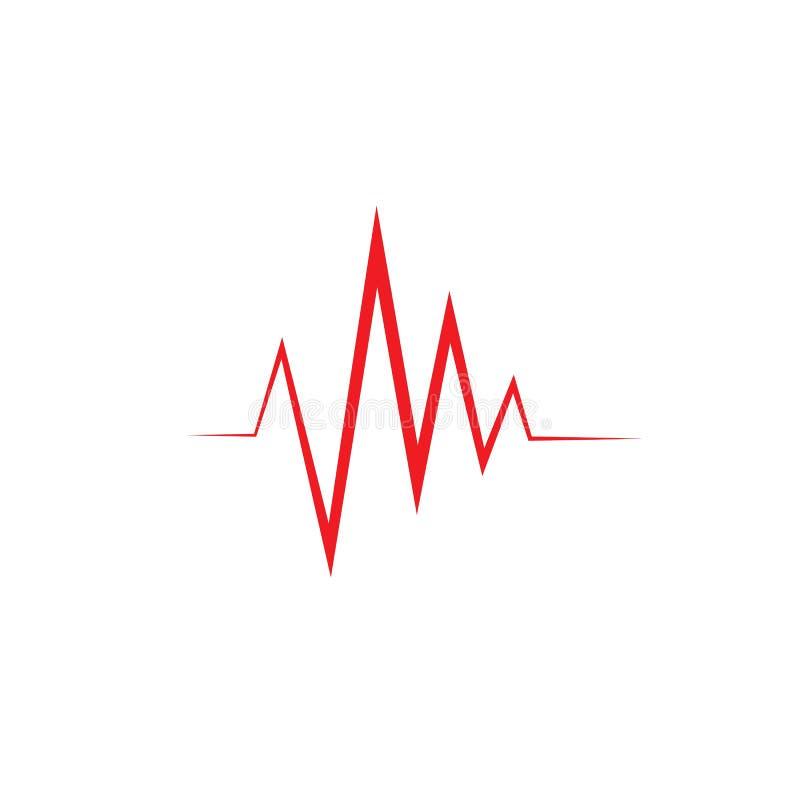 Ejemplo del vector de las ondas ac?sticas stock de ilustración