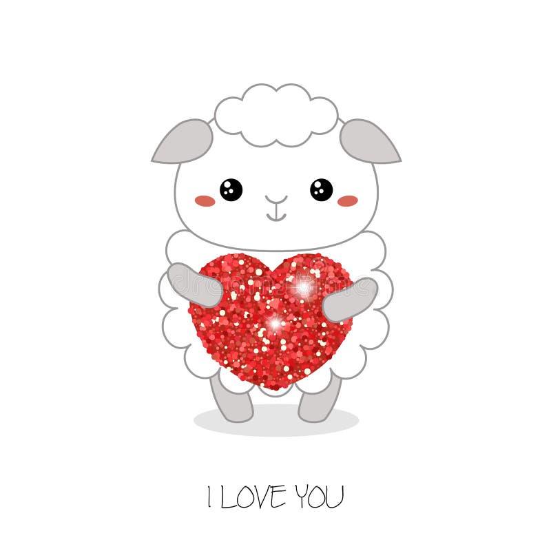 Ejemplo del vector de las ovejas stock de ilustración