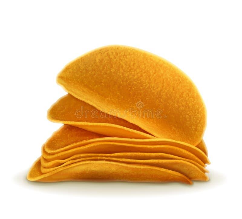 Ejemplo del vector de las patatas fritas stock de ilustración