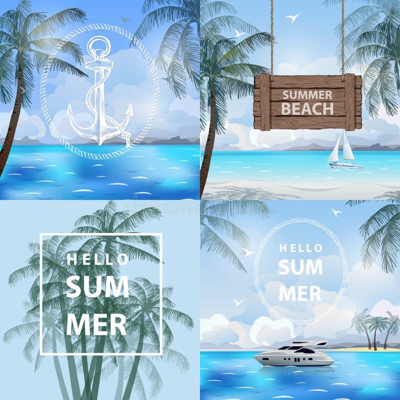 Ejemplo del vector de las vacaciones de verano  libre illustration