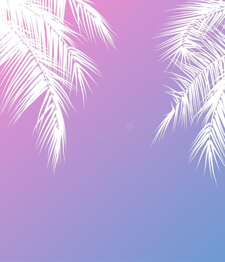 Ejemplo del vector de las vacaciones de verano con vector de las palmeras ilustración del vector