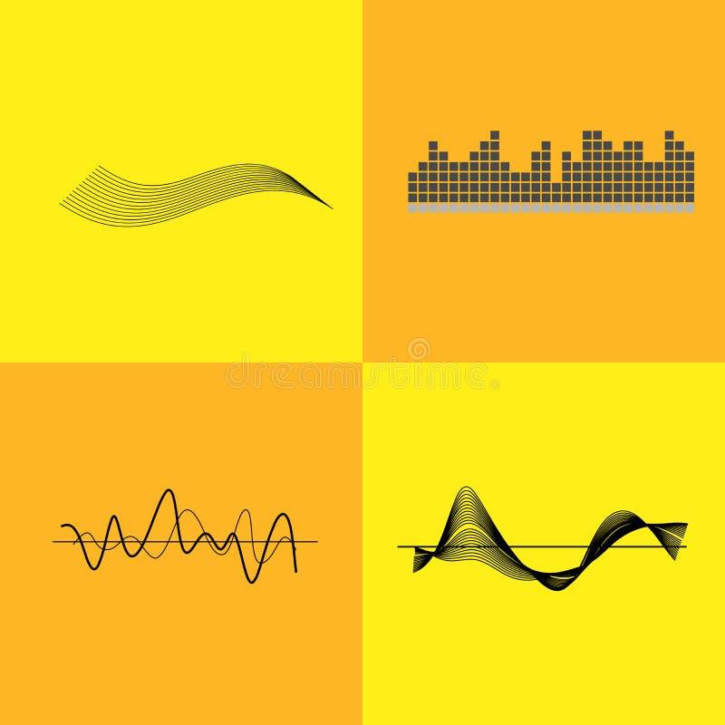 Ejemplo del vector de las variantes del interfaz del equalizador libre illustration