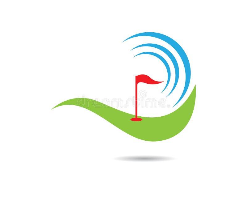 Ejemplo del vector de Logo Template del golf fotografía de archivo libre de regalías