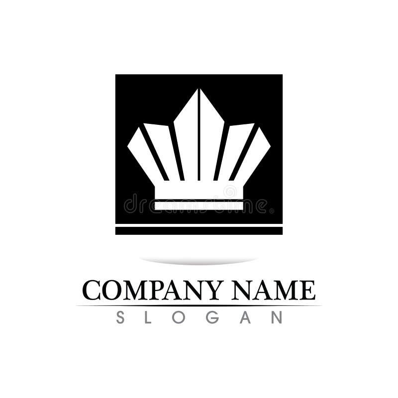 Ejemplo del vector de Logo Template de la corona ilustración del vector