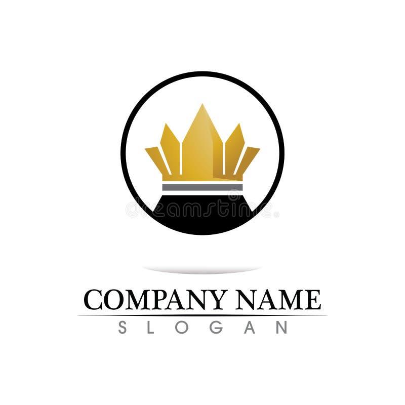 Ejemplo del vector de Logo Template de la corona libre illustration