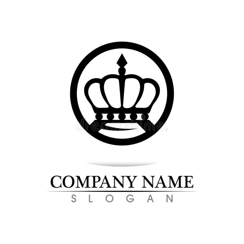 Ejemplo del vector de Logo Template de la corona stock de ilustración