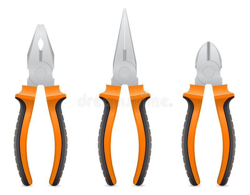 Ejemplo del vector de los alicates de la herramienta stock de ilustración
