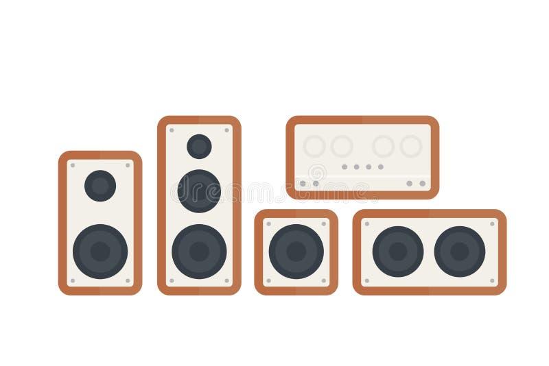 Ejemplo del vector de los altavoces de audio stock de ilustración