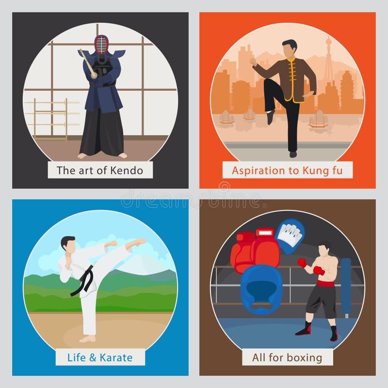 Ejemplo del vector de los artes marciales stock de ilustración