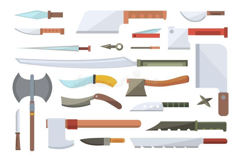 Ejemplo del vector de los cuchillos stock de ilustración