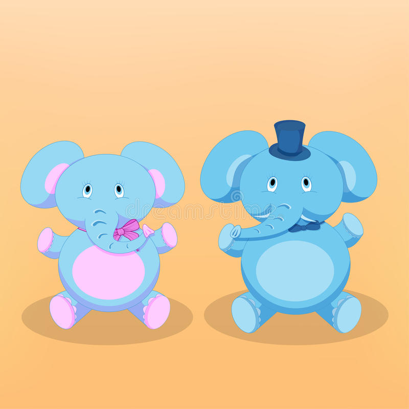 Ejemplo del vector de los elefantes de la historieta foto de archivo libre de regalías