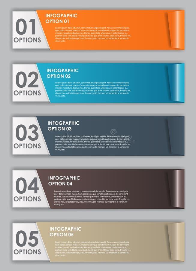 Ejemplo del vector de los elementos del diseño de INFOGRAPHICS stock de ilustración