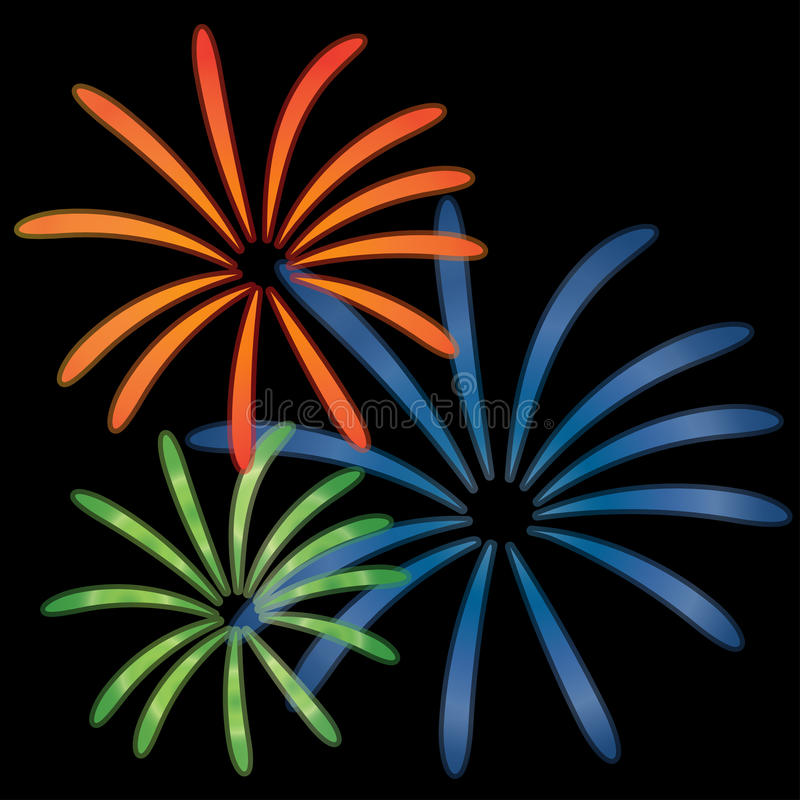 Ejemplo del vector de los fuegos artificiales stock de ilustración