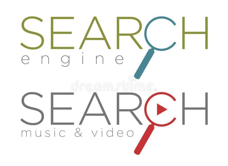 Ejemplo del vector de los iconos del Search Engine libre illustration