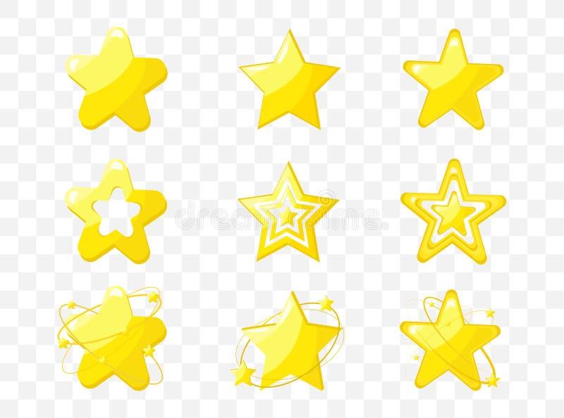 Ejemplo del vector de los iconos de la estrella stock de ilustración