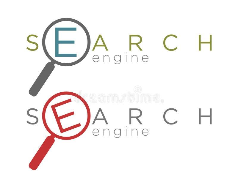 Ejemplo del vector de los iconos simples del Search Engine libre illustration