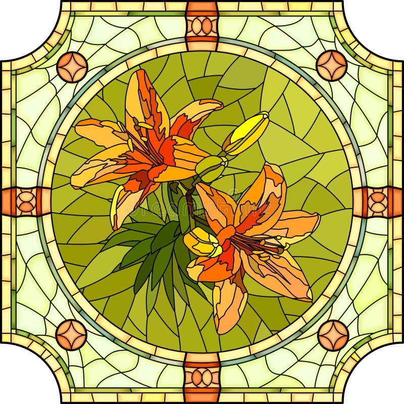 Download Ejemplo Del Vector De Los Lirios De La Naranja De La Flor Ilustración del Vector - Ilustración de mosaico, flora: 41901206