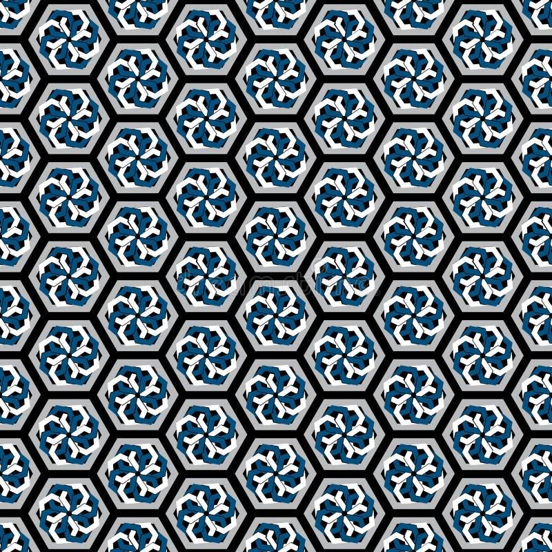 Ejemplo del vector de los modelos inconsútiles hexagonales de la repetición stock de ilustración