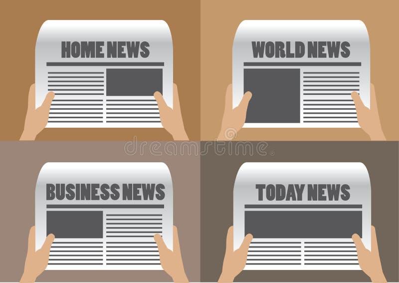 Ejemplo del vector de los títulos de periódico stock de ilustración