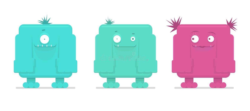 Ejemplo del vector de monstruos divertidos libre illustration