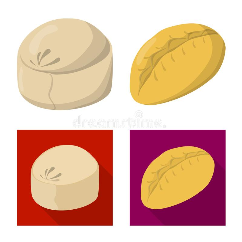 Ejemplo del vector de productos y de la muestra el cocinar Fije de productos y del s?mbolo com?n del aperitivo para la web stock de ilustración