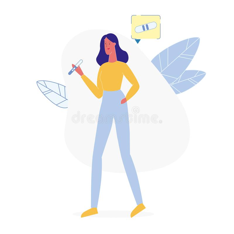 Ejemplo del vector de señora Holding Pregnancy Test libre illustration