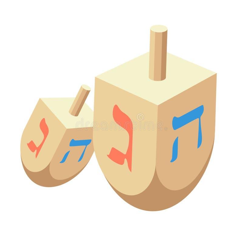 Ejemplo del vector de Torah o de Pentateuch Día de fiesta del ele de Jánuca stock de ilustración