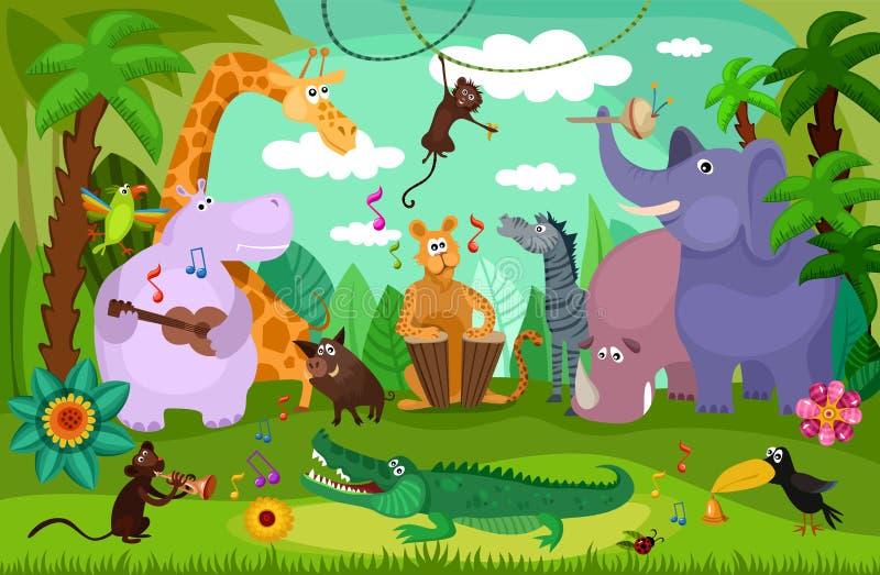 Concierto del bosque libre illustration
