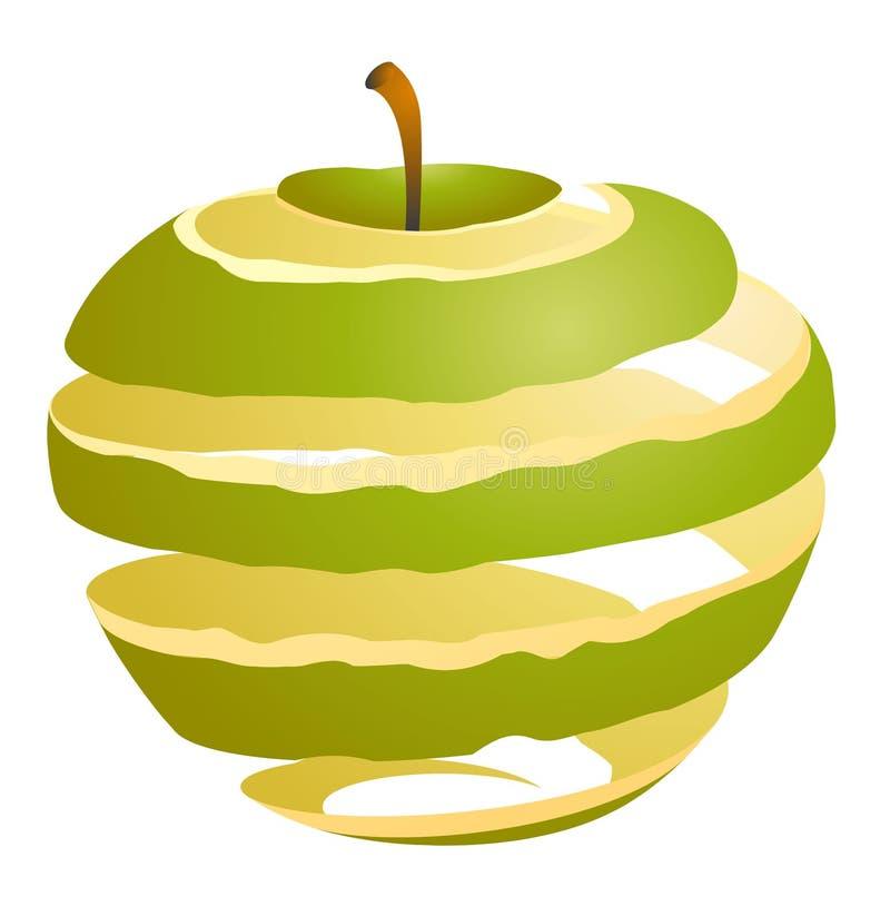 Ejemplo del vector de un corte de la manzana ilustración del vector