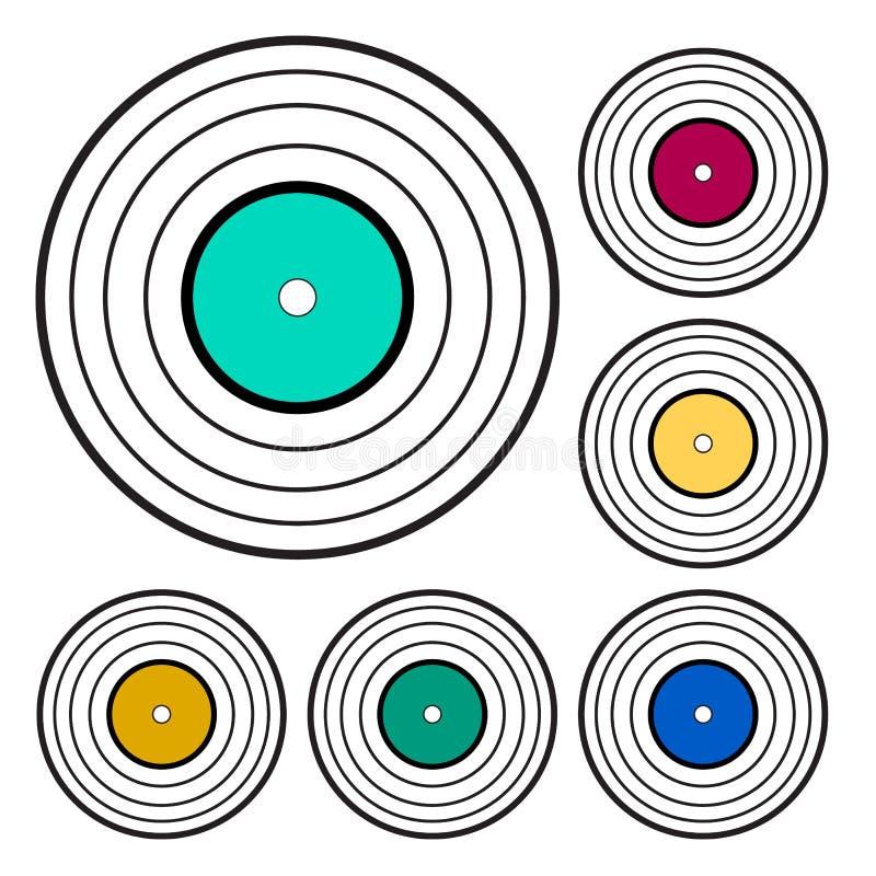 Ejemplo del vector de un disco de vinilo ilustración del vector