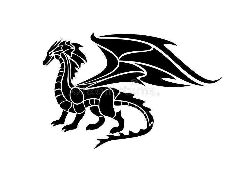 Ejemplo del vector de un dragón negro libre illustration