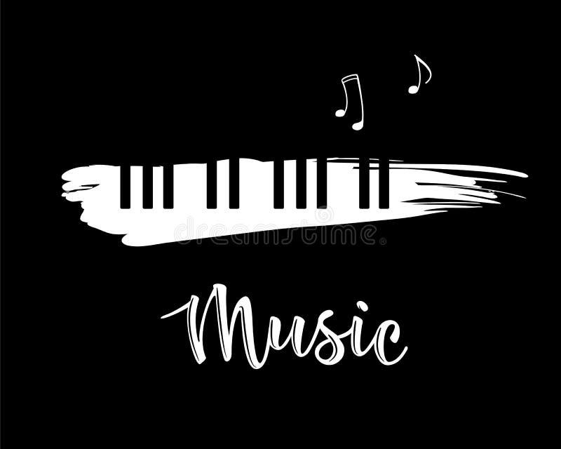Ejemplo del vector de un elemento del diseño de la música stock de ilustración