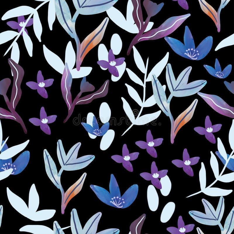 Ejemplo del vector de un estampado de flores inconsútil en la primavera para casarse, el aniversario, el cumpleaños y el partido  stock de ilustración