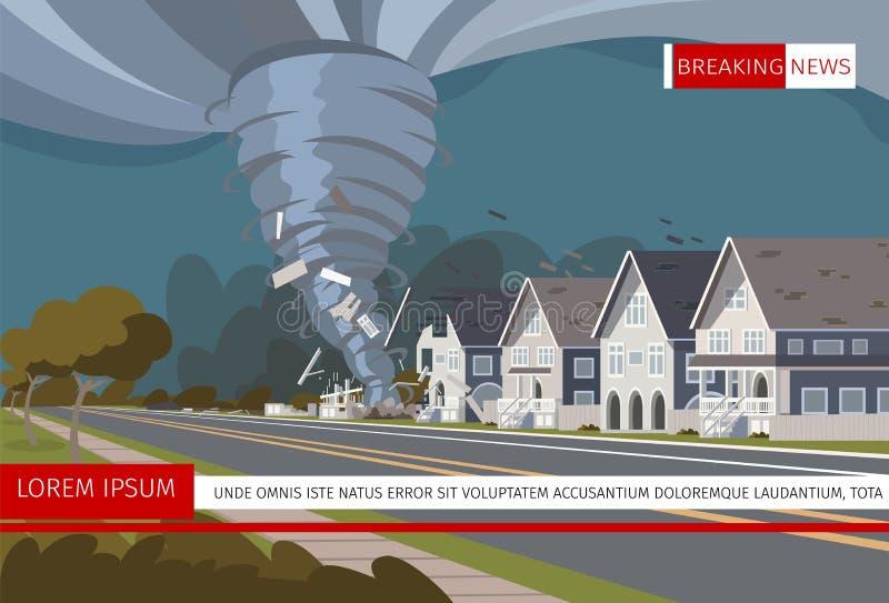 Ejemplo del vector de un huracán destructivo libre illustration