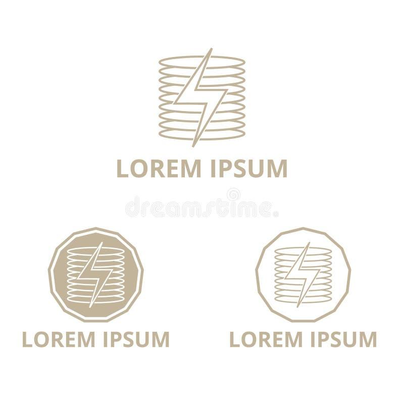 Ejemplo del vector de un logotipo de la compañía de la energía con varios círculos stock de ilustración