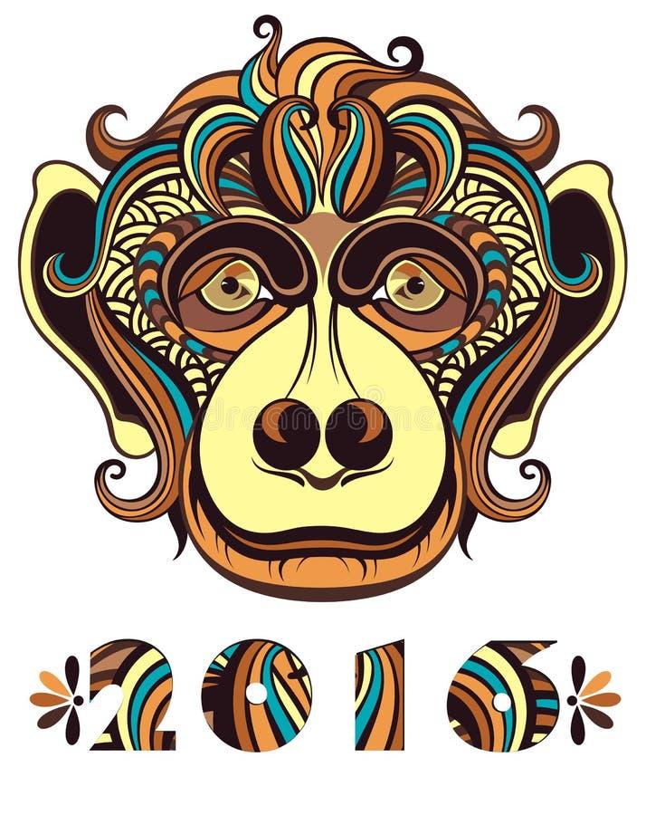 Ejemplo del vector de un mono libre illustration