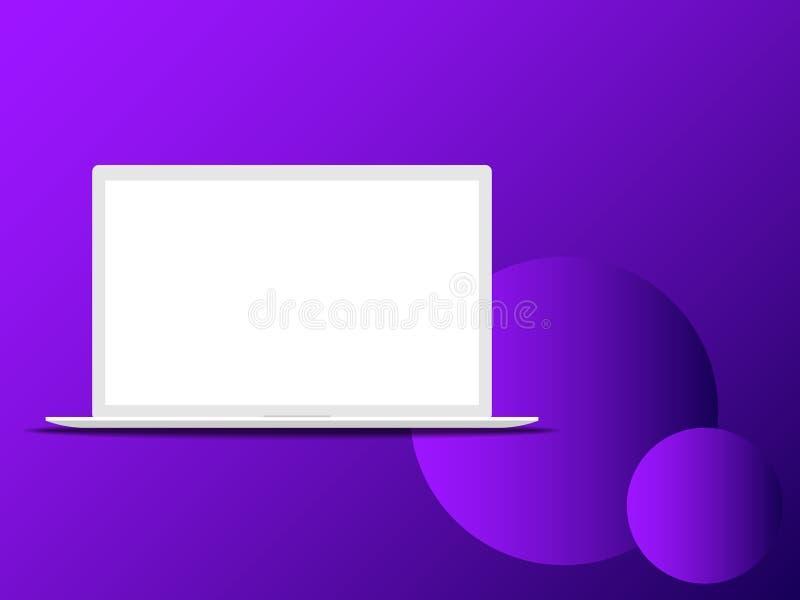 Ejemplo del vector de un ordenador portátil fotografía de archivo libre de regalías