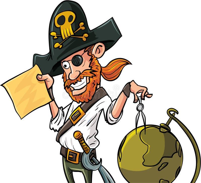 Ejemplo del vector de un zombi de la historieta imágenes de archivo libres de regalías