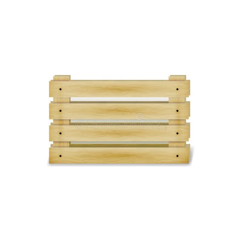 Ejemplo del vector de una caja de madera stock de ilustración