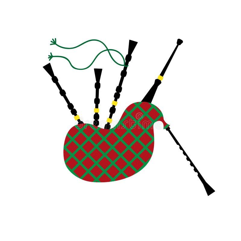 Ejemplo del vector de una gaita ilustración del vector