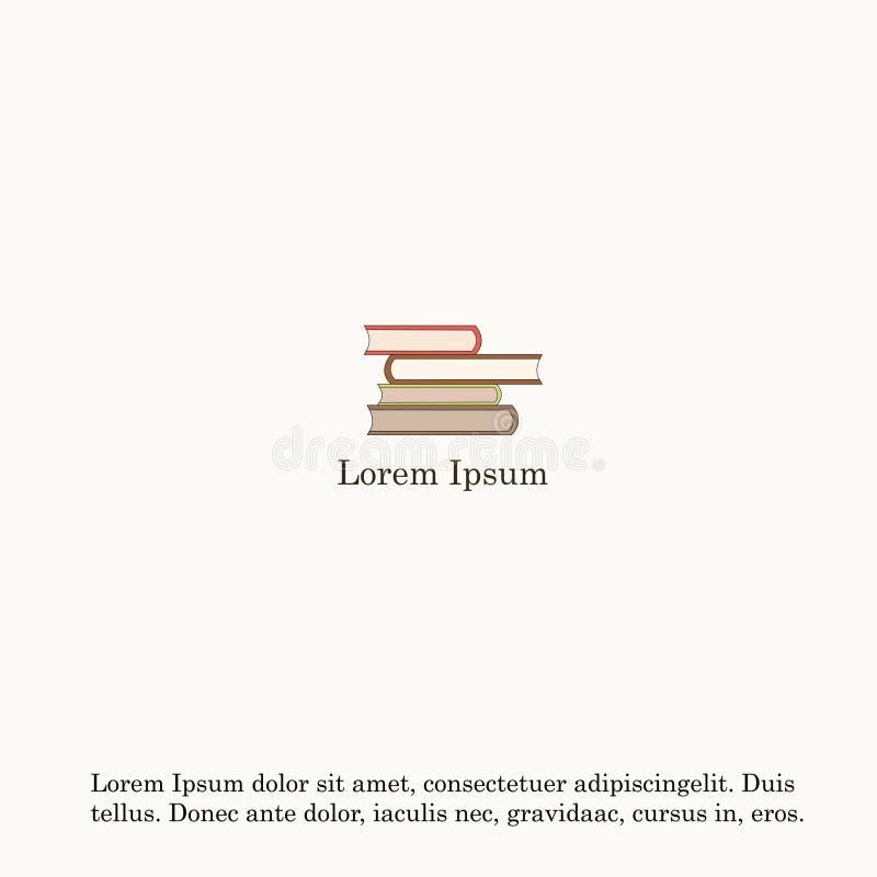 Ejemplo del vector de una pila de libros aislados en fondo ligero libre illustration