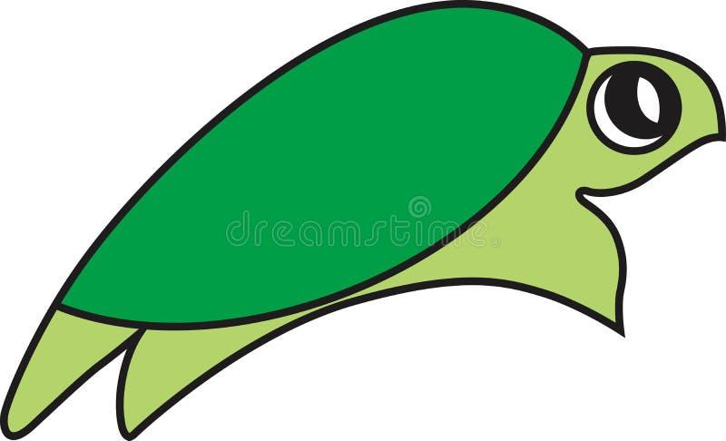 Ejemplo del vector de una tortuga foto de archivo libre de regalías