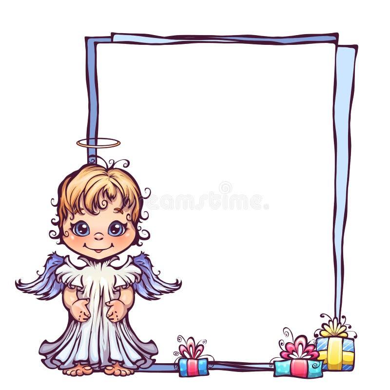 Ejemplo Del Vector Del ángel Lindo Con El Marco Ilustración del ...