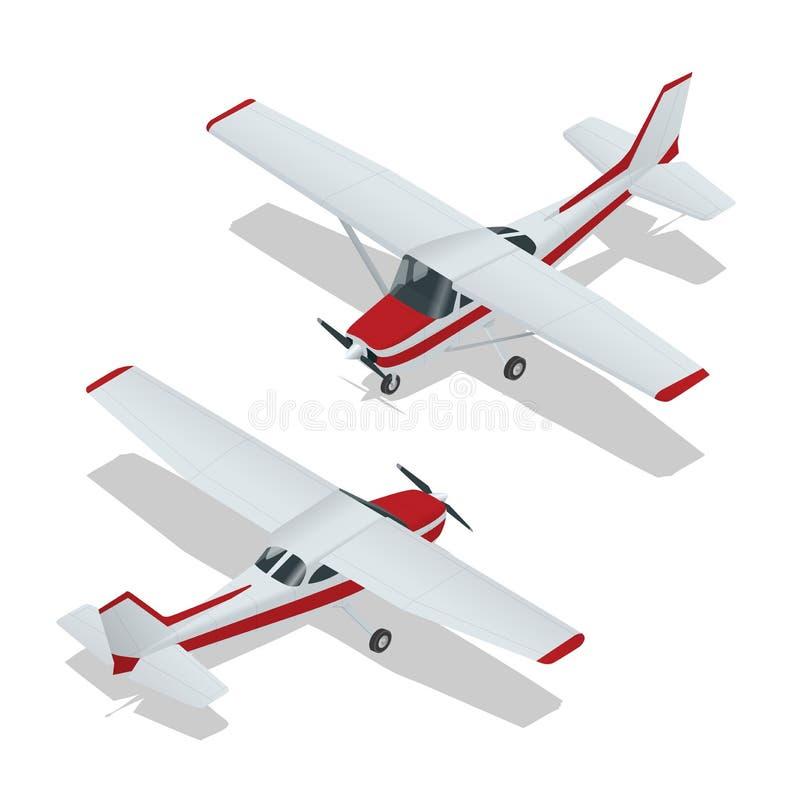 Ejemplo del vector del aeroplanos Vuelo del aeroplano Icono plano Vector del aeroplano El avión escribe Avión EPS Avión 3d plano stock de ilustración