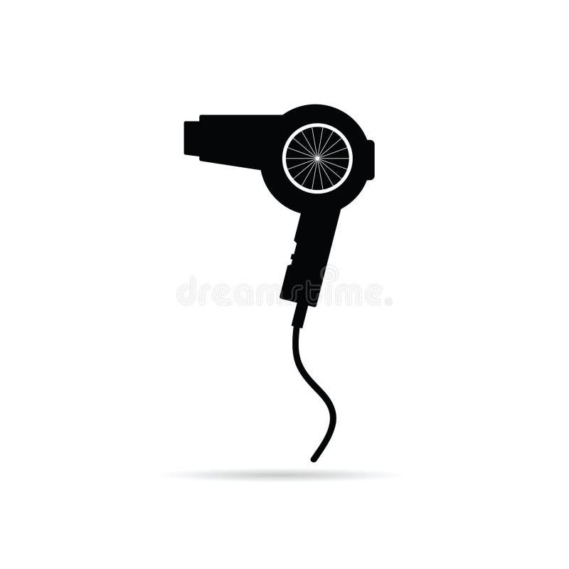 Ejemplo del vector del arte negro de Hairdryer ilustración del vector