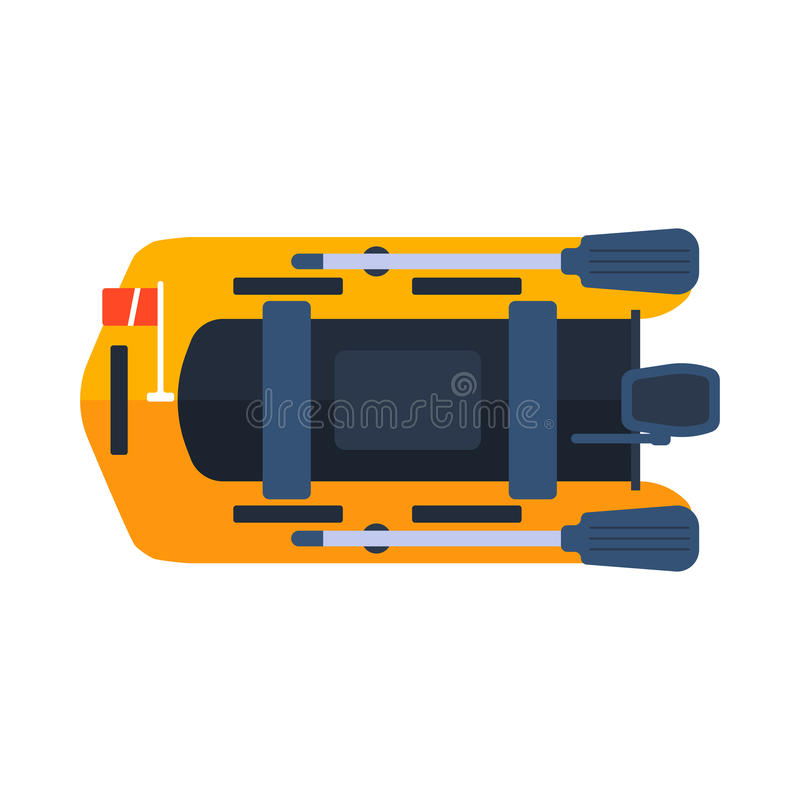 Ejemplo del vector del barco del bote libre illustration