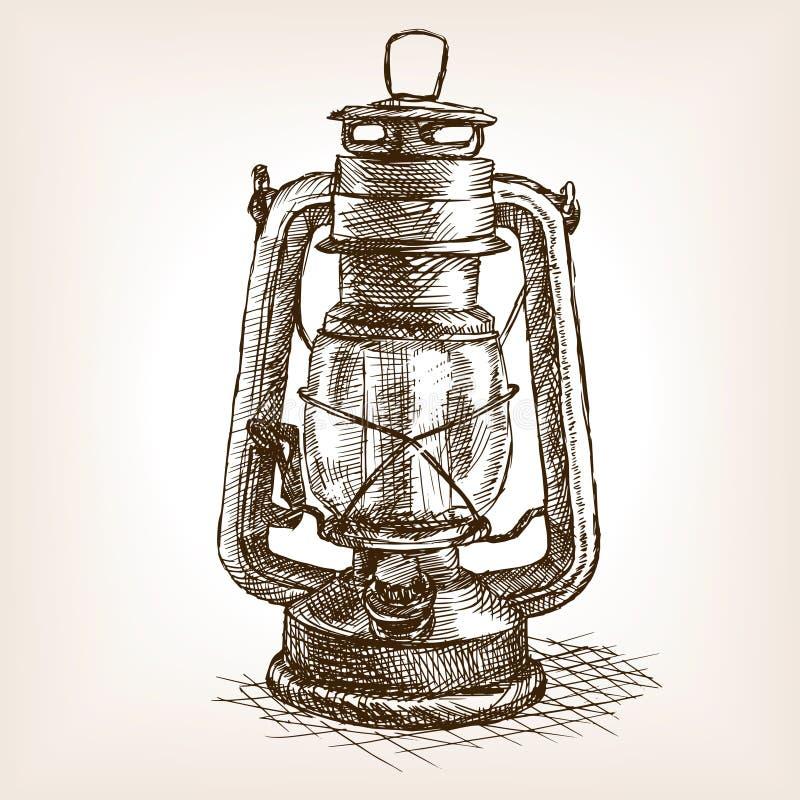 Ejemplo del vector del bosquejo de la linterna del vintage libre illustration