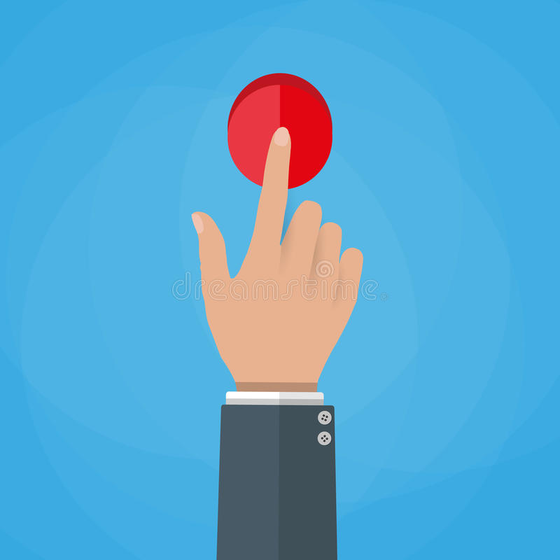 Ejemplo del vector del botón del tacto de la mano libre illustration