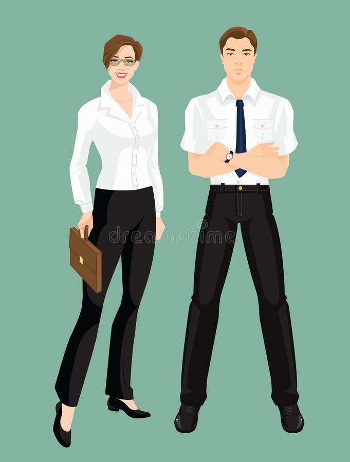Ejemplo del vector del código de vestimenta corporativo libre illustration