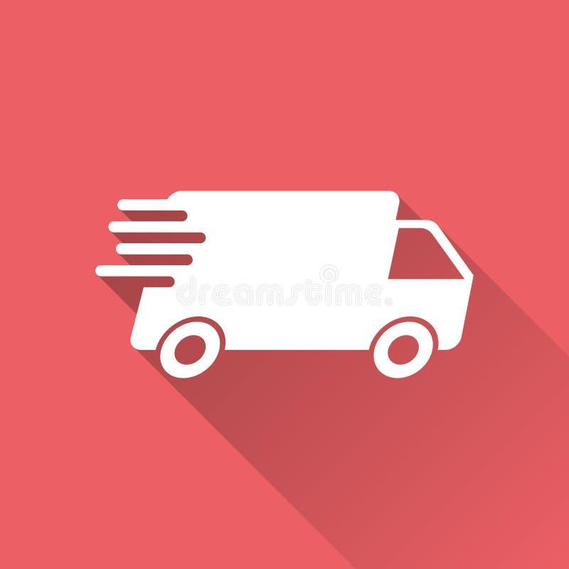 Ejemplo del vector del camión de reparto Shippi rápido del servicio de entrega ilustración del vector